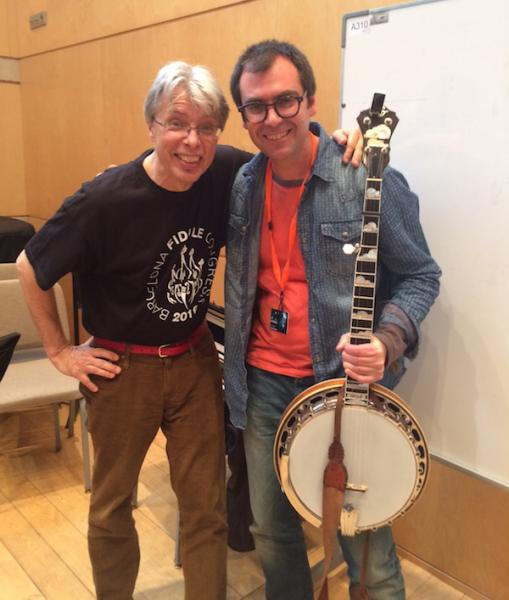 darol anger at barcelona fiddle congress with lluis gomez