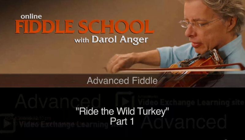 fiddle lesson on ride the wild turkey