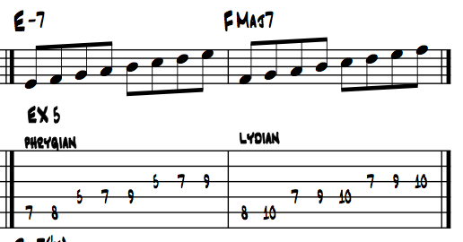guitar scales exercise 5a