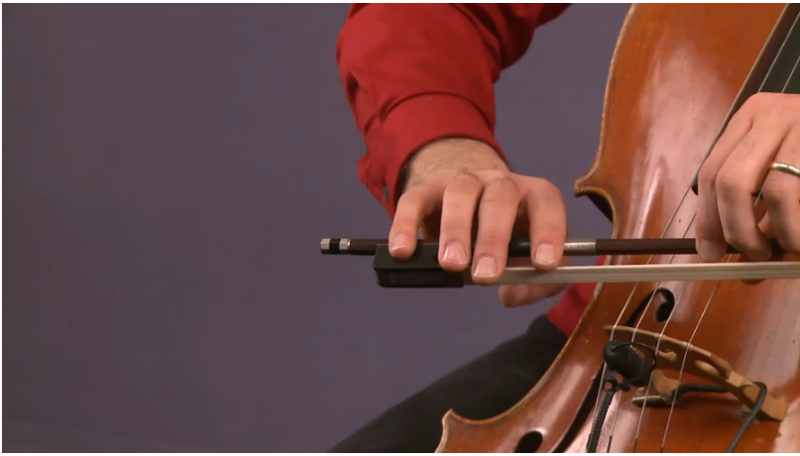 how to hold cello bow - mike block lessson