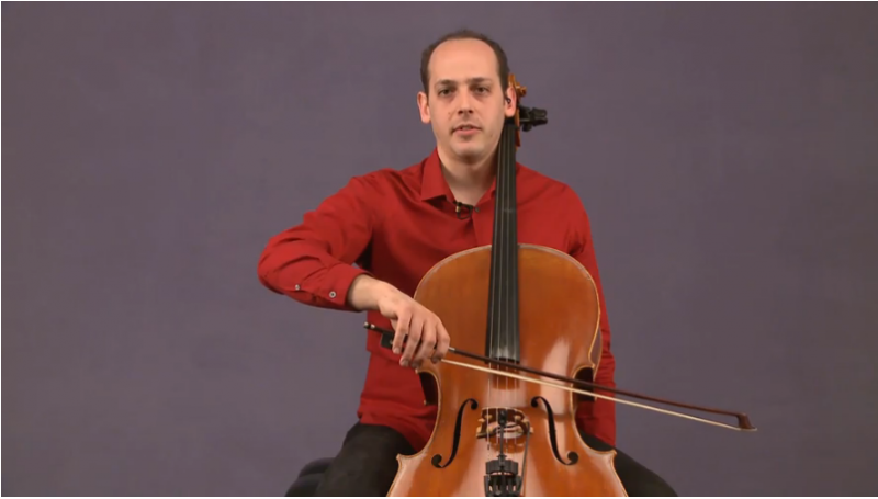 how to hold a cello bow - mike block