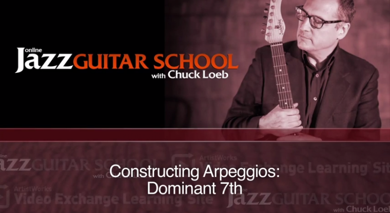 jazz guitar lesson on constructing arpeggios