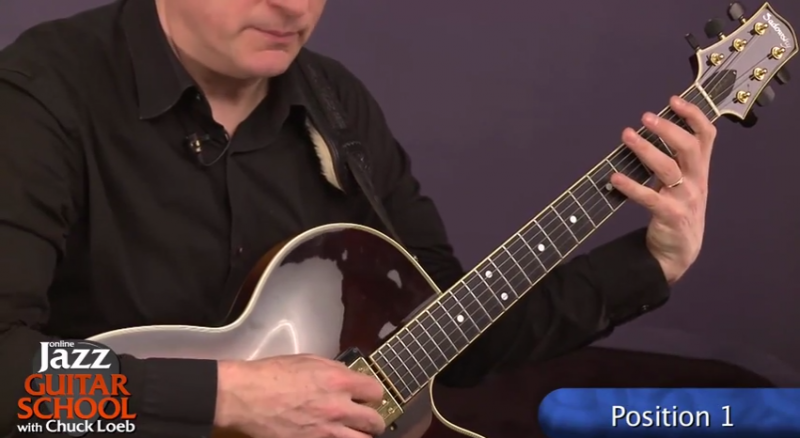 jazz guitar lesson position 1