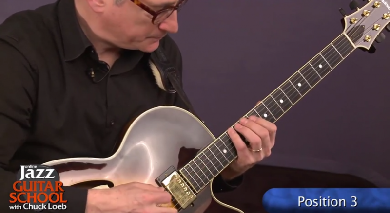 jazz guitar lesson position 3
