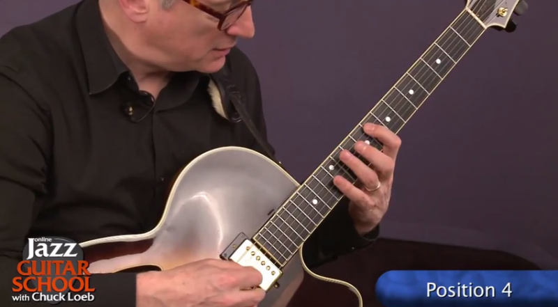 jazz guitar lesson position 4
