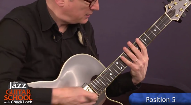 jazz guitar lesson position 5