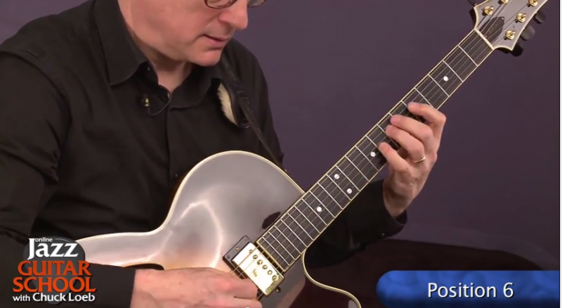 jazz guitar lesson position 6