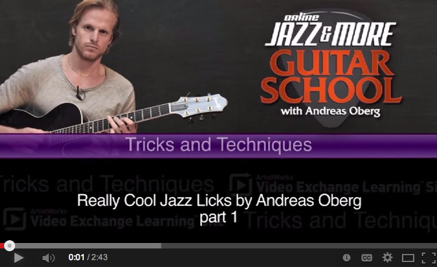jazz guitar licks from andreas oberg