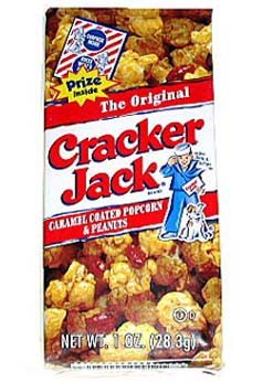 learning violin - cracker jack box