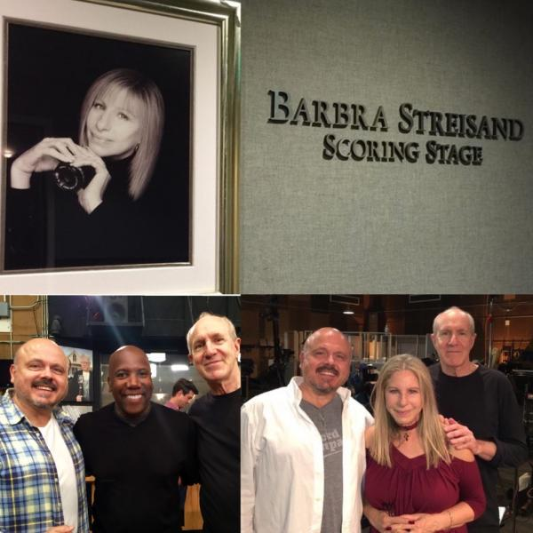 nathan east in the studio with barbara streisand