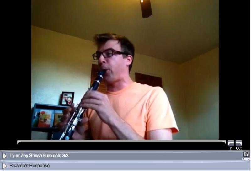 online learning clarinet student tyler