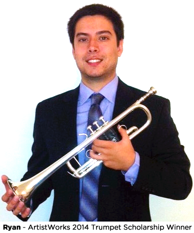 online learning profile - ryan, trumpet student