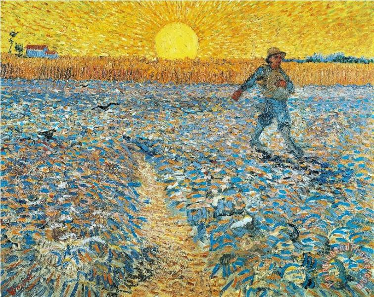 van gogh sunset