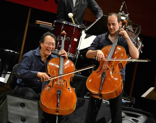 yo-yo-ma and mike block playing cello