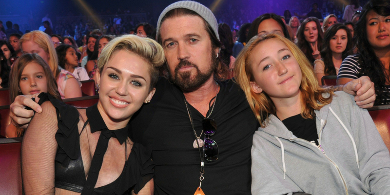 Billy Ray Cyrus and Daughters